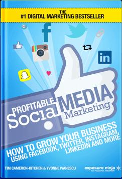 Profitable Social Media Marketing Book cover