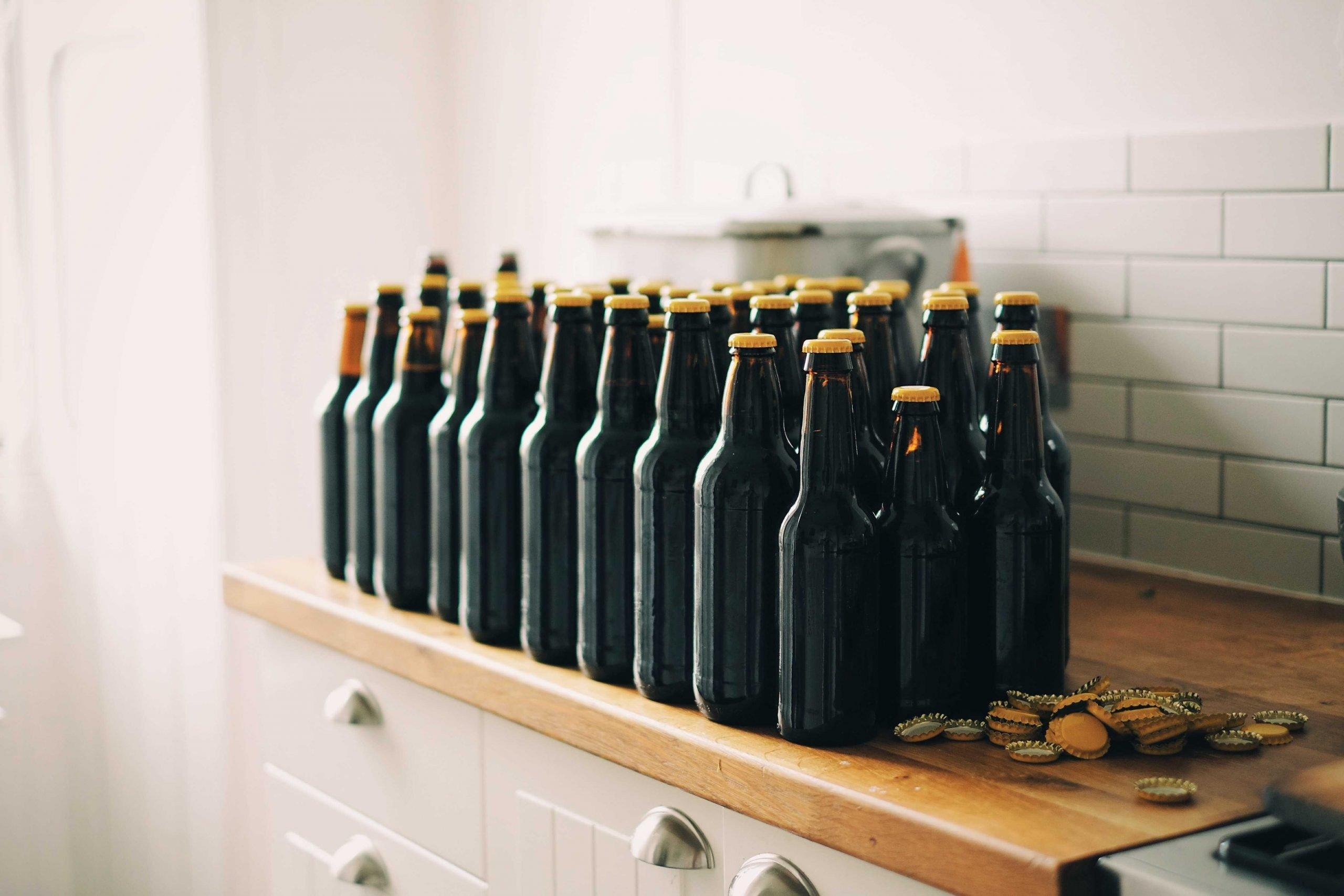 Empty beer bottles whilst considering Brewdog's digital marketing strategy
