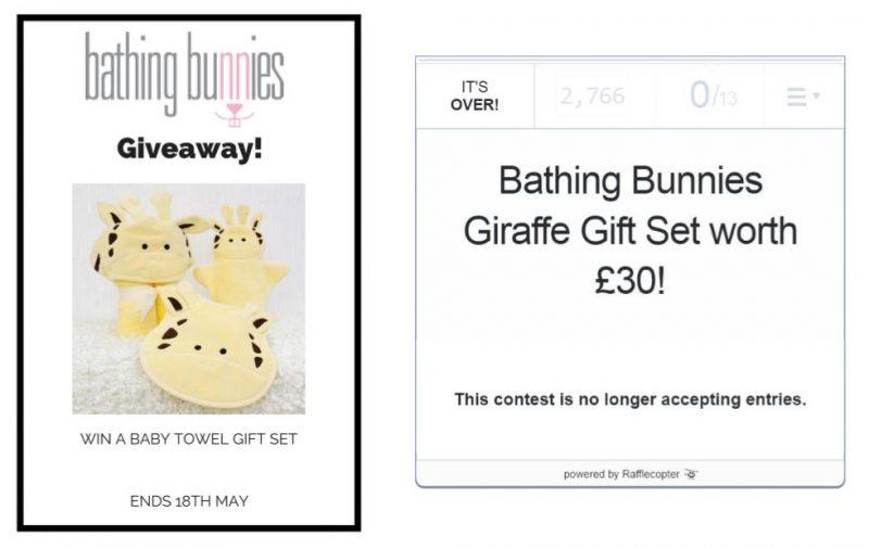 Bathing Bunnies giveaway widgets