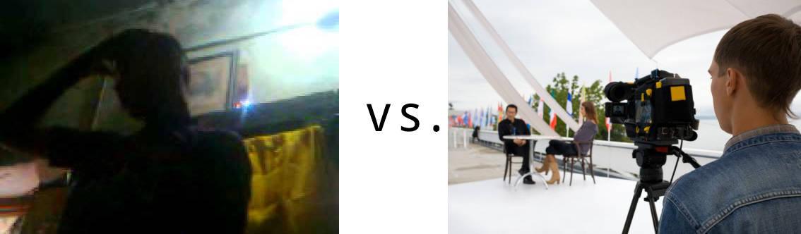 DIY vs professional corporate video
