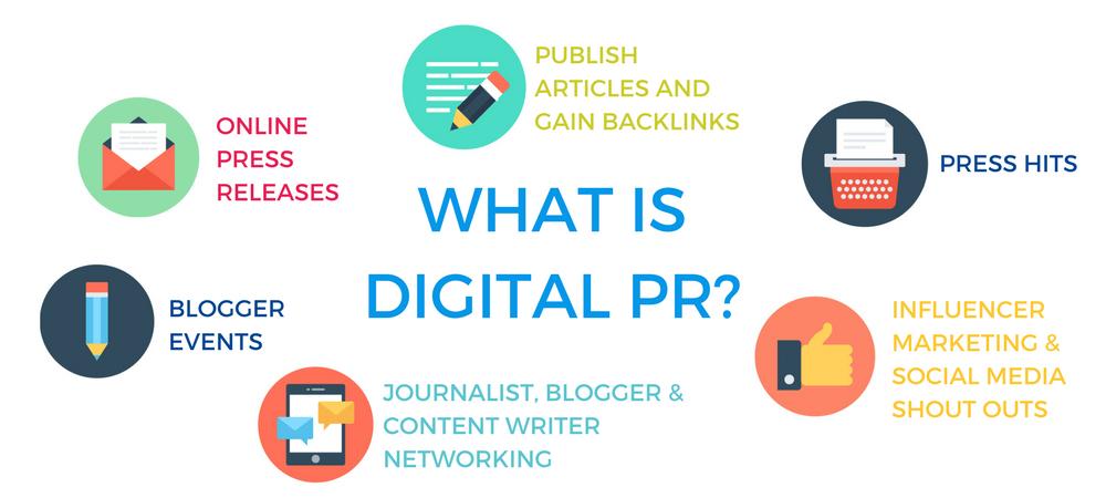 Diagram explaining: what is digital PR?