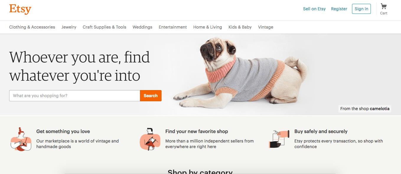 Etsy-Homepage