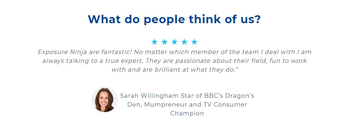Exposure Ninja Review by Sarah Willingham from Dragons Den