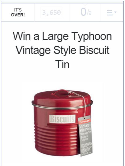 NuCasa Biscuit Tin Giveaway Widget