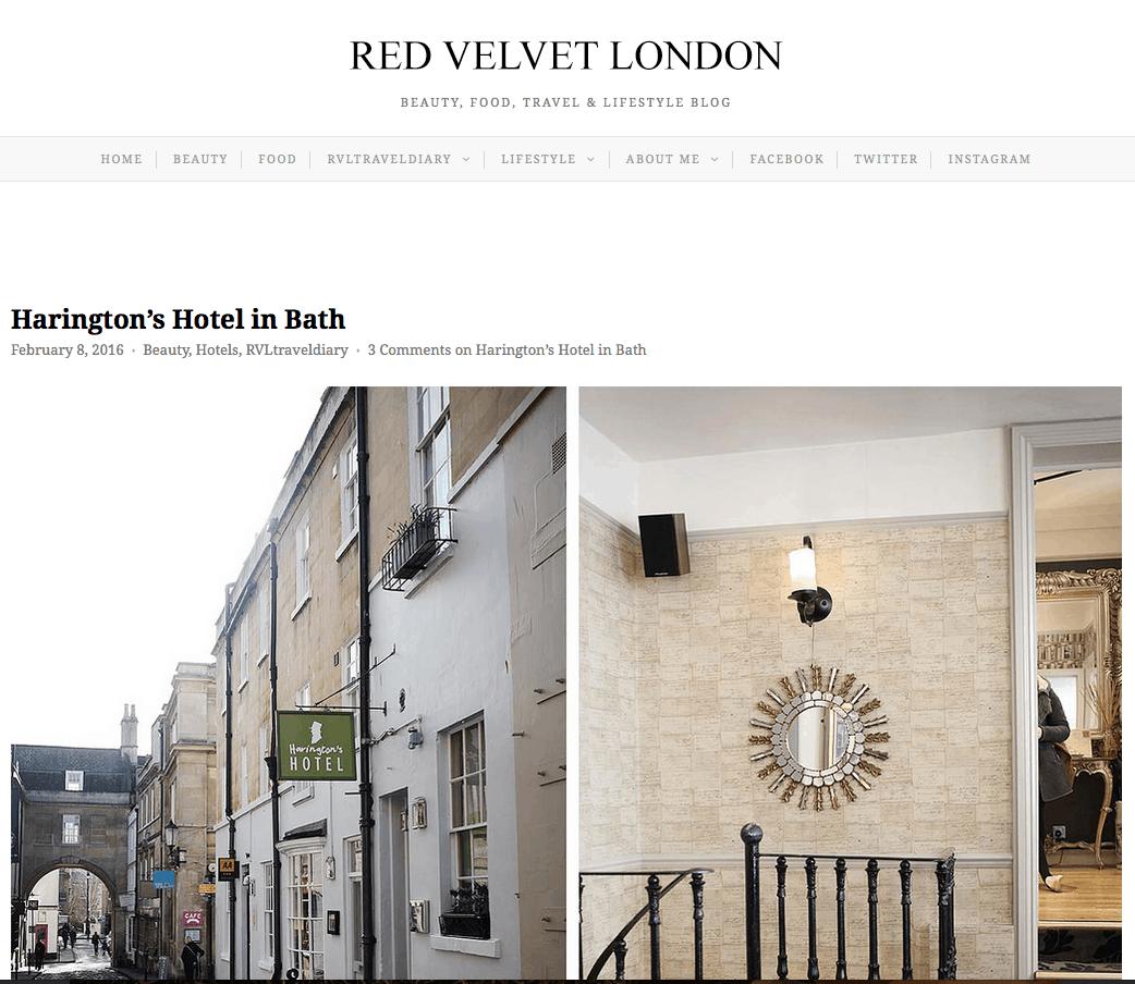 Red Velvet London website