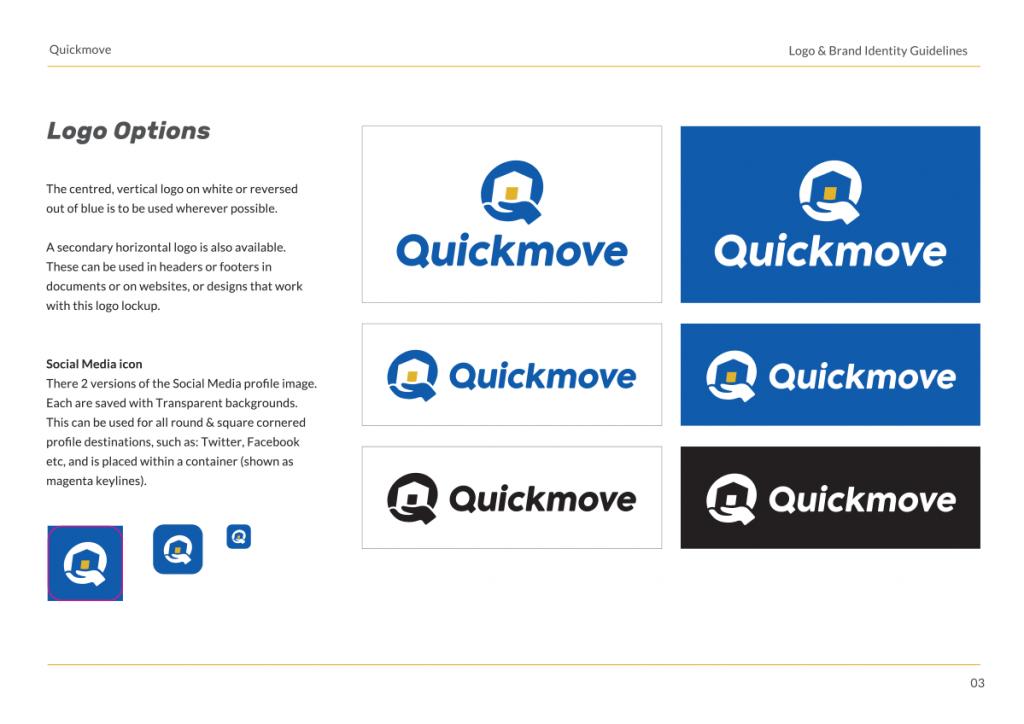 Screenshot of Designbull's branding guideline template