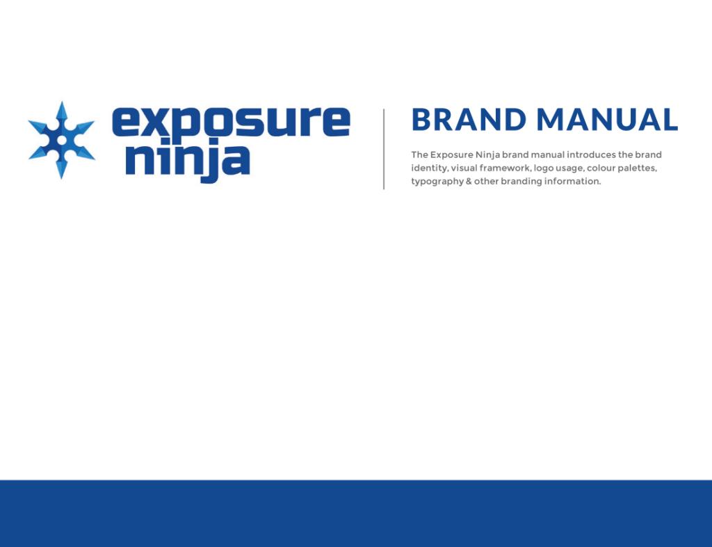 Exposure Ninja's branding guideline front page.