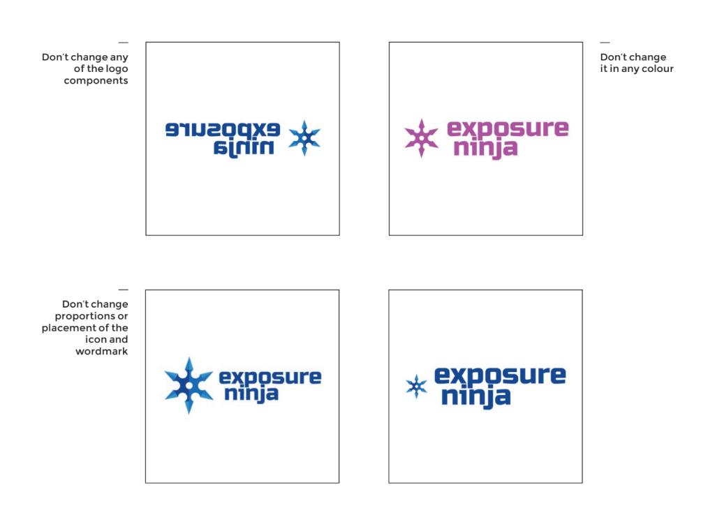 Examples of bad Exposure Ninja usage.
