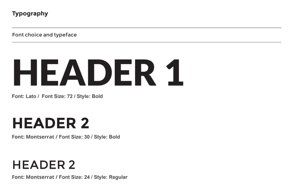 Example of Exposure Ninja's typography sizes and styles.