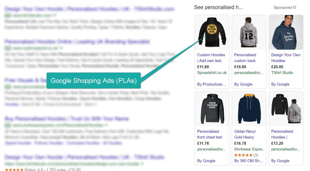 Screenshot of a Google Shopping Ad