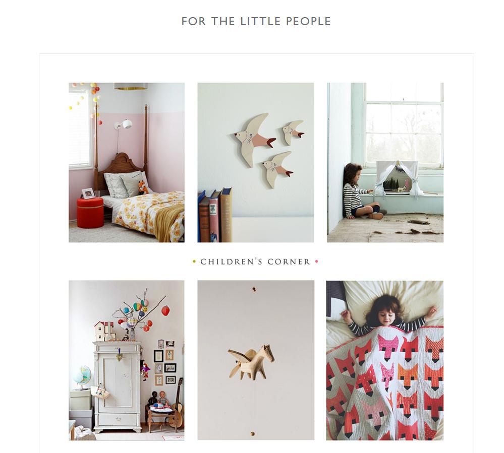 screenshot of Check out Rowen & Wren blog design