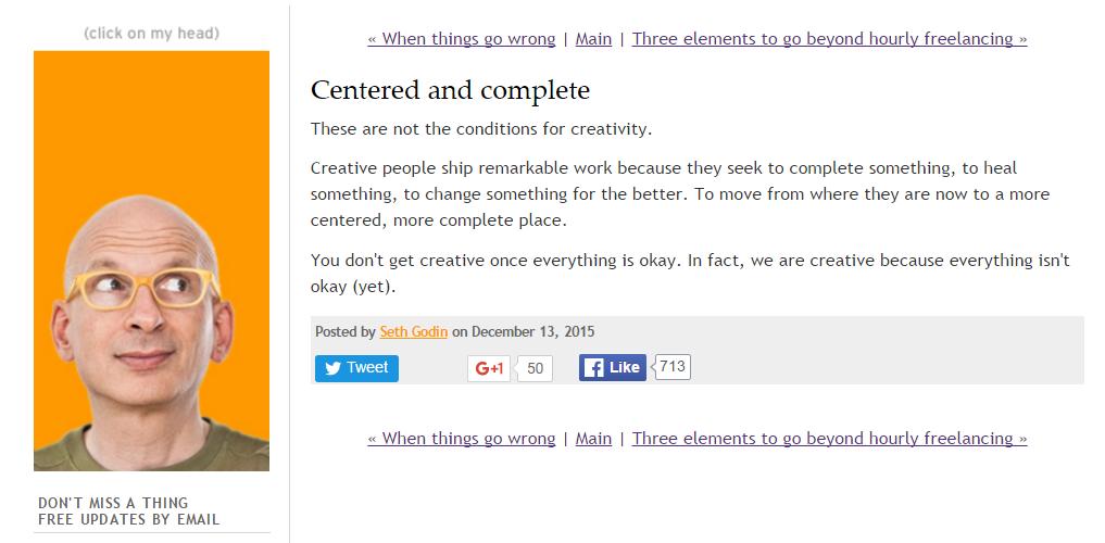 screenshot of Neil Patel blog