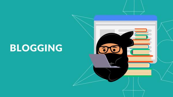 Blogging training holding image