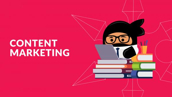 Content Marketing training holding image