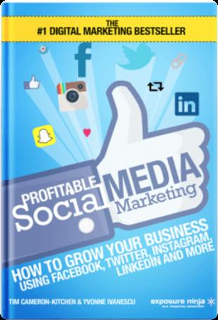 cover of the book profitable social media marketing
