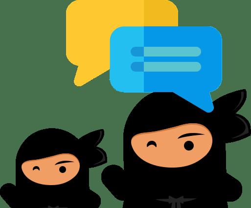 Shinobi ninja saying hello and talking
