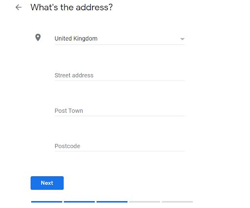business address entry gmb
