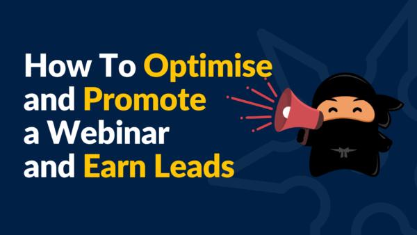 optimise promote webinar leads feature